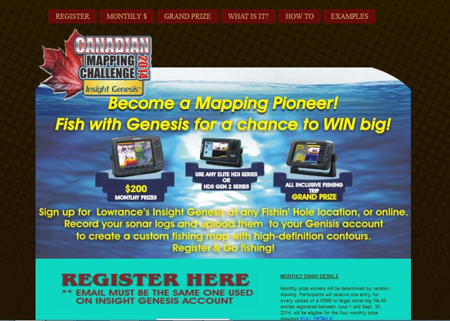 Fishin Hole Contest website