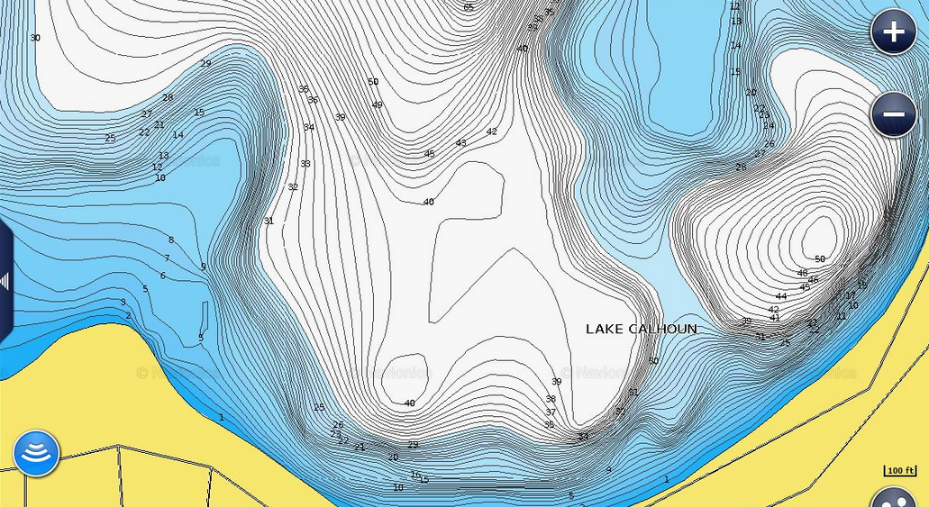 Time To Examine The Myth Of Onefoot Contours CMAP Fishing - Lake contour maps free