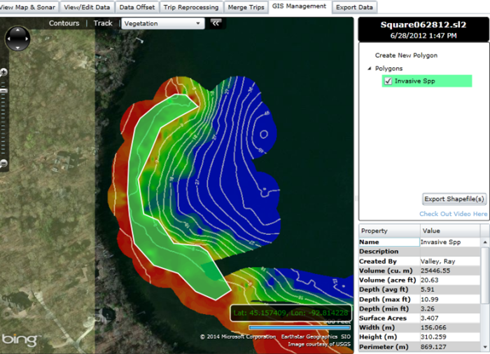 Aquatic resource managers can calculate important metrics for lake management monitoring and recommendations.