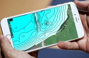 iPhone with map