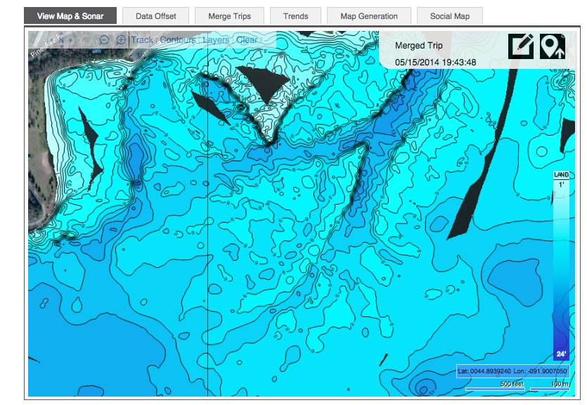 Fish Open Water This Fall To Catch Winter Fish Through The Ice C - Fishing contour maps