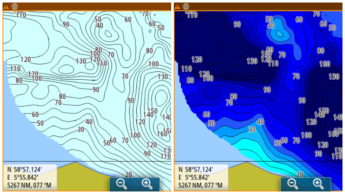 Water Depth Map How to use custom depth shading for C MAP Genesis charts of