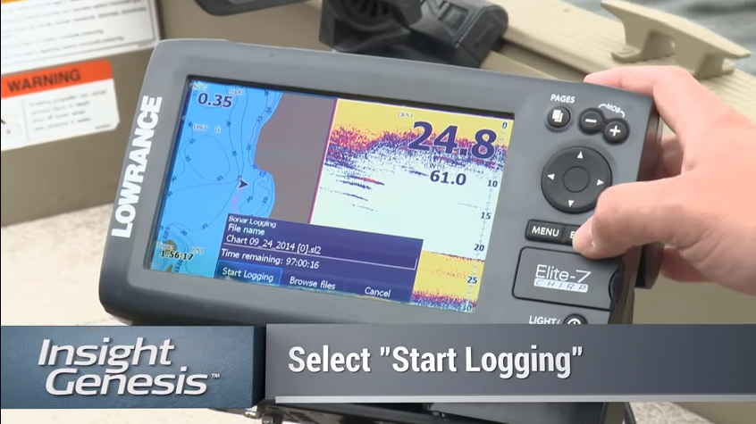 How to record C-MAP Genesis sonar logs with a Lowrance sonar/GPS